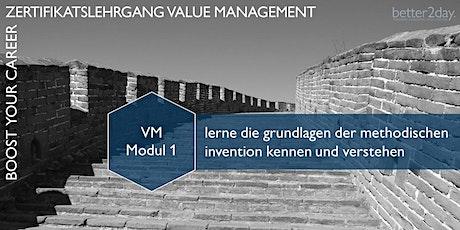 VDI-Lehrgang Value Management Modul 1 (VM Basismodul) - Online Tickets