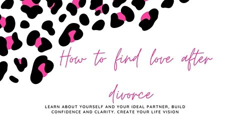 How to find love after a divorce tickets