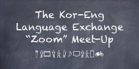 Korean and English Language Exchange Online Meeting tickets