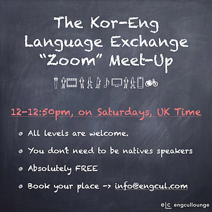 Korean and English Language Exchange Online Meeting image