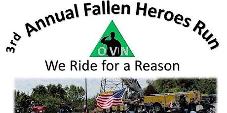 3rd Annual Fallen Heroes Motorcycle Run Registration tickets