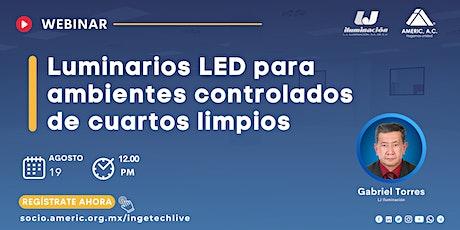 Luminarios LED para ambientes controlados de cuartos limpios entradas