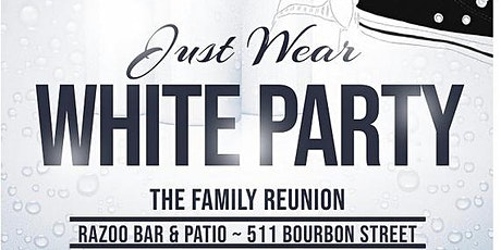 The Old School Converse Just Wear White Party (The Family Reunion) tickets
