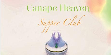 Canape Heaven supper club tickets