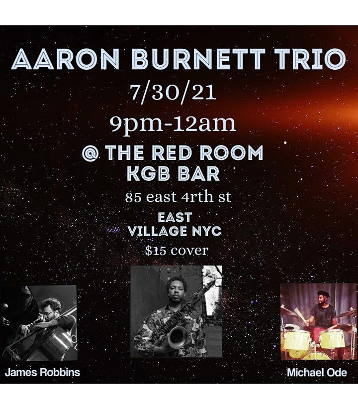 Grammy Winner Aaron Burnett and his Trio plays KGB Bar's Red Room image