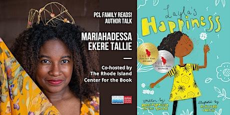 PCL FAMILY READS! A Virtual Author Talk with Mariahadessa Ekere Tallie tickets