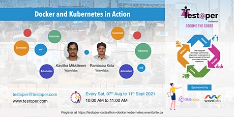 Codeathon -Docker and Kubernetes in Action starts on 07 Aug 2021 biglietti