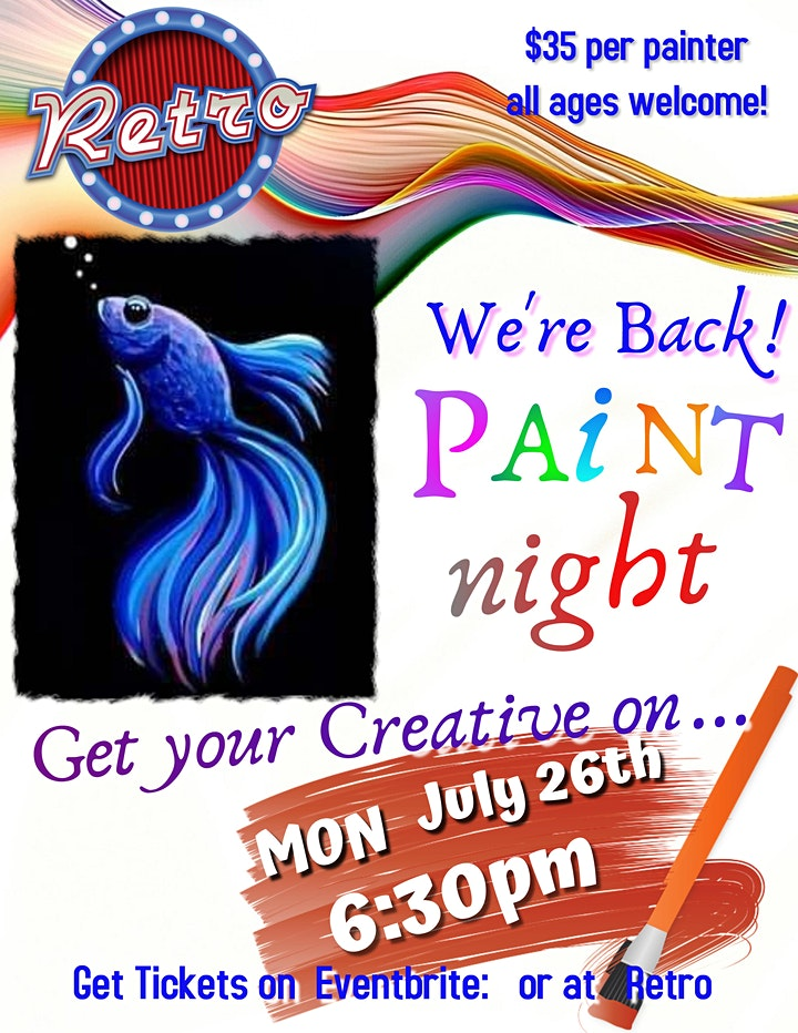 All Ages Paint night July 26th image
