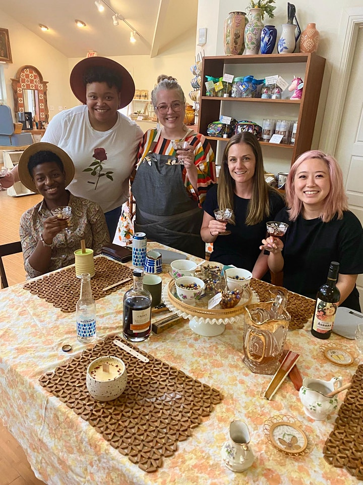 Sip + Pour:  A Candles and Wine Class image
