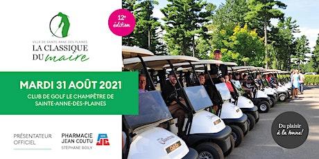 Tournoi de golf de la Classique du Maire - Édition 2021 billets