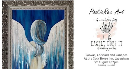 Canvas Cocktails & Canapes -  Angel in Blue -  5 August 2021 tickets