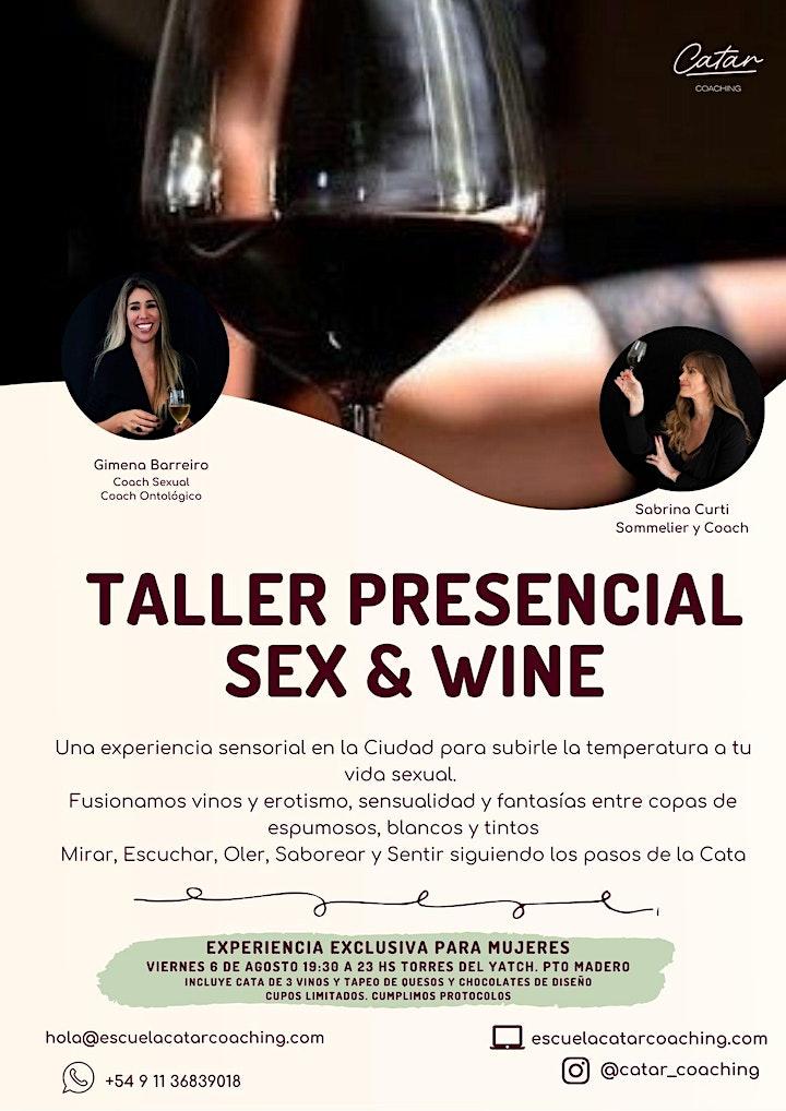 Imagen de TALLER PRESENCIAL SEX & WINE| Torres del Yatch Pto Madero