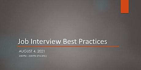 Job Interview Best Practices tickets