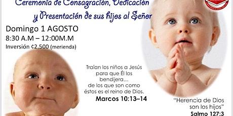 Seminario presentación de niños a Jesús boletos