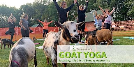 Goat Yoga at Farmamerica tickets