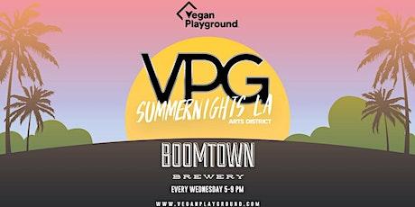 Vegan Playground Summer Nights LA - Boomtown Brewery - August 11, 2021 tickets