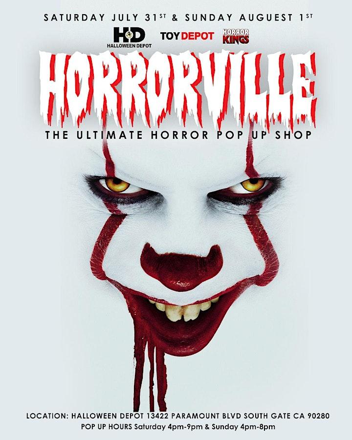 HORRORVILLE The Ultimate  Horror  Pop-Up Shop Inside HALLOWEEN DEPOT image