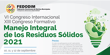 """VI Congreso Internacional Formativo """"Manejo de Los Residuos Sólidos"""" tickets"""