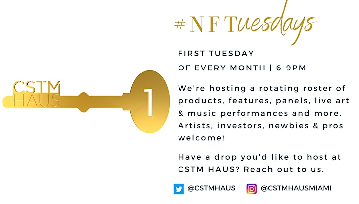 [ART BASEL EDITION] #NFTuesdays at CSTM HAUS image