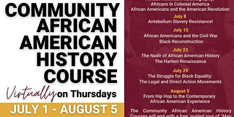 Community African American History Course (Virtual) tickets