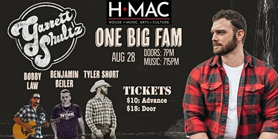 Garrett Shultz One Big Fam Night at HMAC Stage on Herr