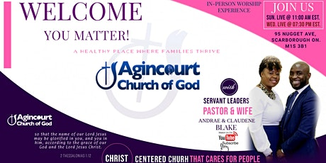 Sunday Morning Worship @ Church 95 Nugget Ave, Scarborough ON. M1S 3B1 tickets