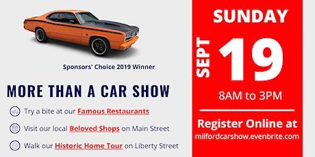 Milford Car Show tickets