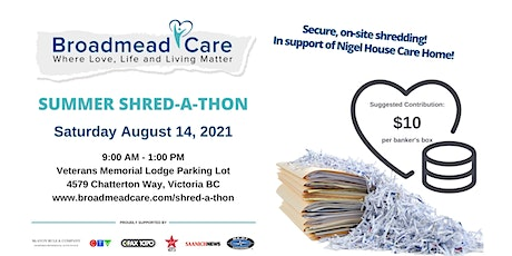 Broadmead Care's Summer Shred-a-Thon tickets