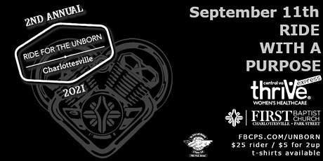 RIDE FOR THE UNBORN - 2021 - Charlottesville tickets