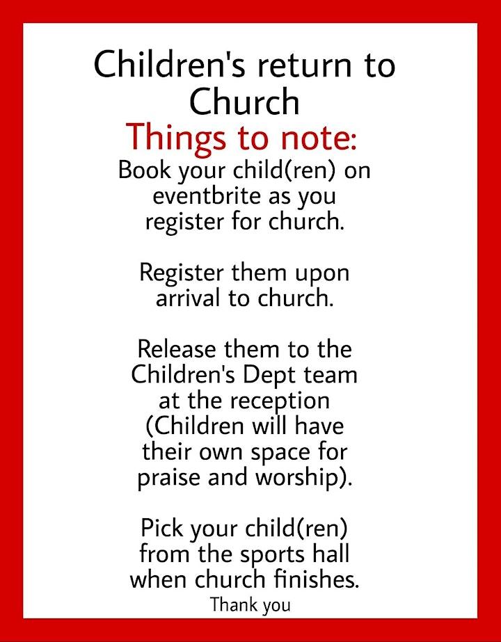Afternoon Family Worship Service At TBC~Croydon image