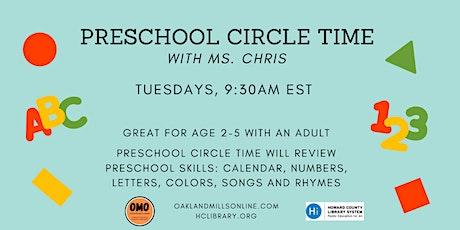 Preschool Circle Time billets