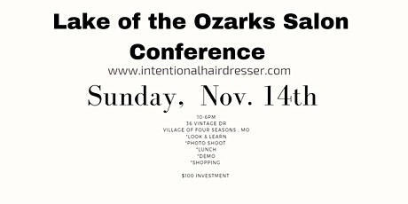Lake of the Ozarks Salon Conference tickets