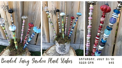 Beaded Fairy Garden Plant Stakes tickets