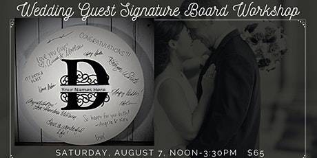 Wedding Guest Signature Board tickets