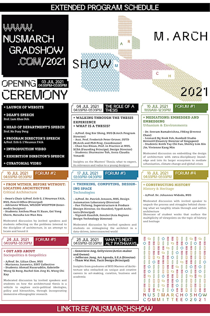 NUS M.Arch Show 2021: Intersections image