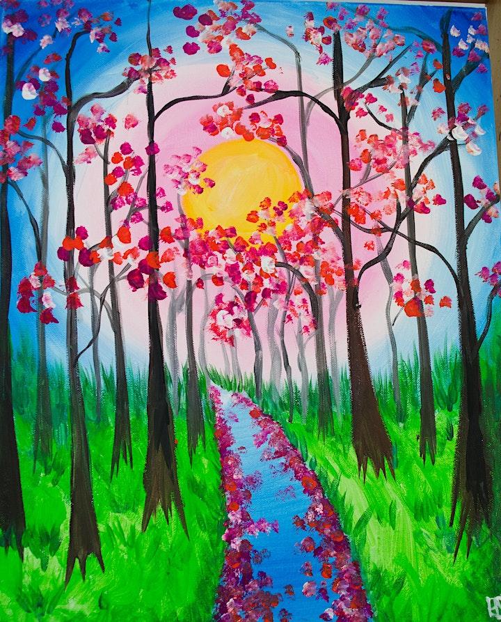 Japanaroo:  Cherry Blossom Paint & Sip Experience image