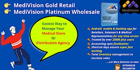 MediVision-  Medical Software forAccounting and Inventory management Launch tickets