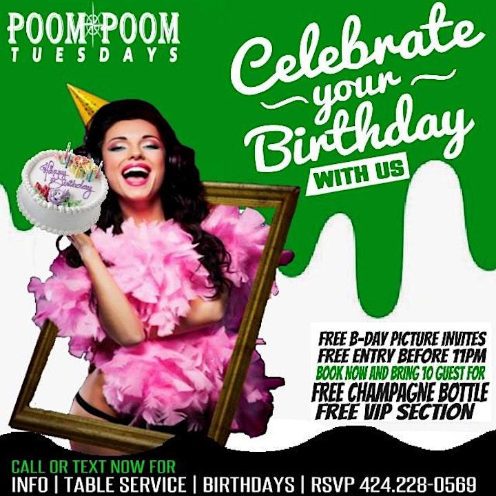 "Poom Poom Tuesdays ""LADIES NIGHT"" image"