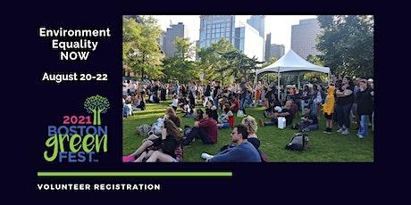 Boston GreenFest 2021 Volunteer Registration tickets