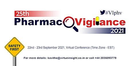 25th Pharmacovigilance 2021 billets