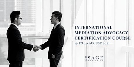 International Mediation Advocacy Certification Course tickets