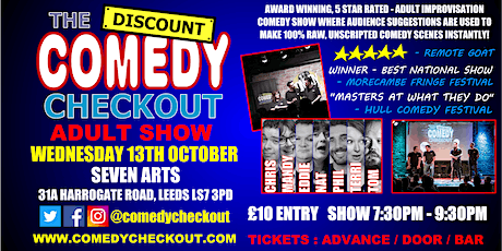 Comedy Night at Seven Arts Leeds - Wednesday 13th October tickets