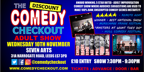 Comedy Night at Seven Arts Leeds - Wednesday 10th November tickets