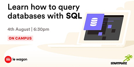[Webinar] Learn how to query databases with SQL biglietti