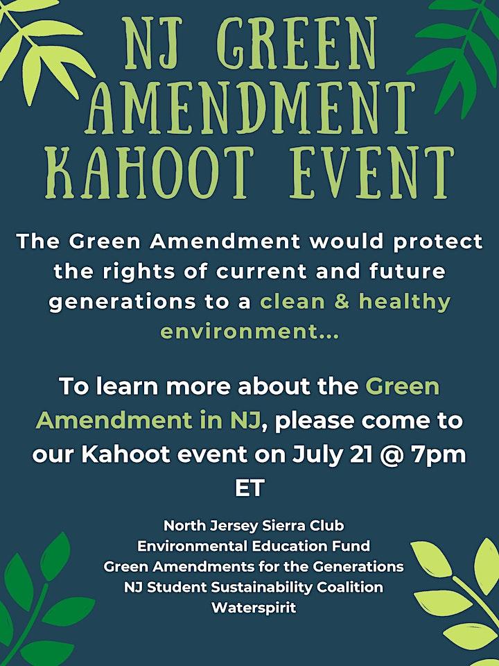 NJ Green Amendment Kahoot Event image