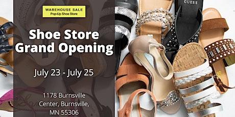 Warehouse Sale Pop-Up Shoe Store Grand Opening! Burnsville, MN tickets