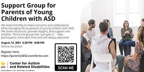 Support Group for Parents of Young Children with ASD #3692 tickets