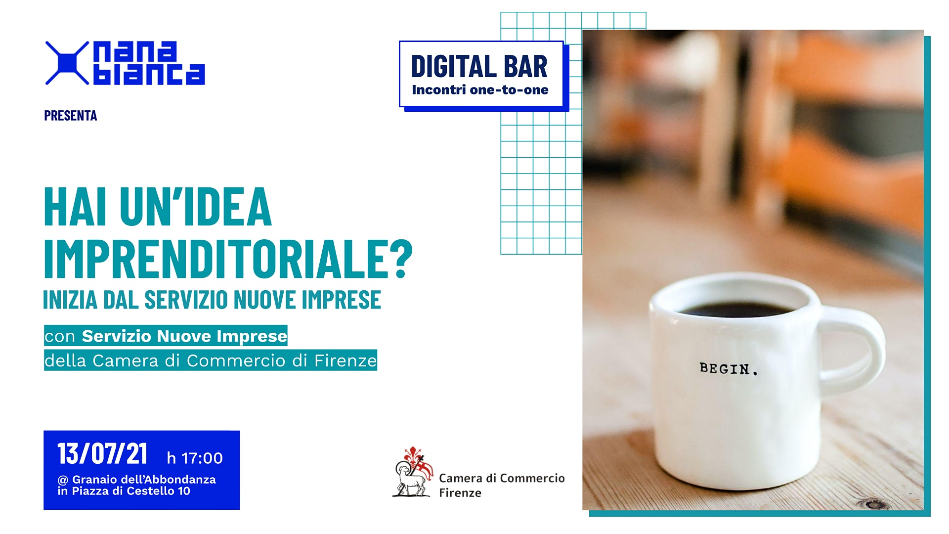 Digital Bar: Hai un'idea imprenditoriale? Inizia dal Servizio Nuove Imprese