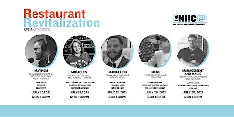 Restaurant Revitalization Speaker Series | MENU  with Brandon Gump tickets