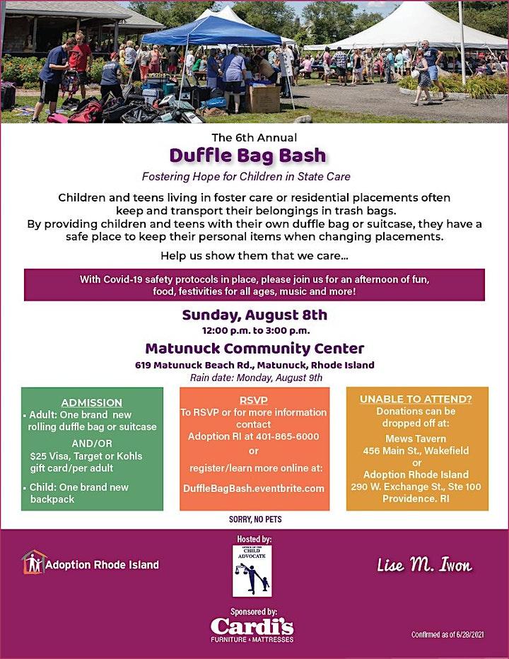6th Annual Duffle Bag Bash image